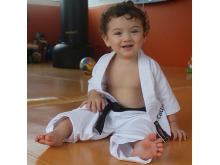 Que lindo! Kauai, filho de Dani Suzuki, aparece como judoca ...