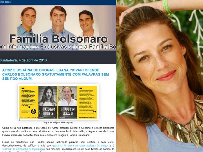 Reprodução/Blog Família Bolsonoraro e Divulgação GNT