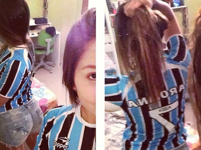Filha de Renato Gaúcho corneta Grêmio em empate contra o Fluminense