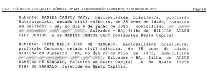 Ivete Sangalo proclamas