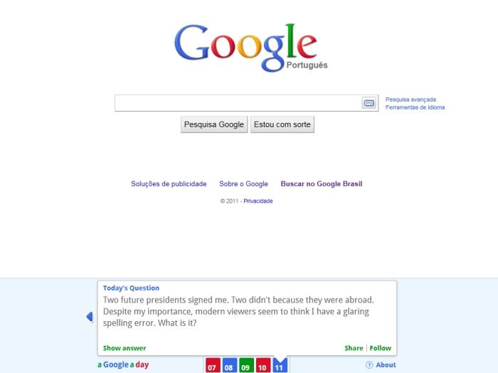 Google, quiz