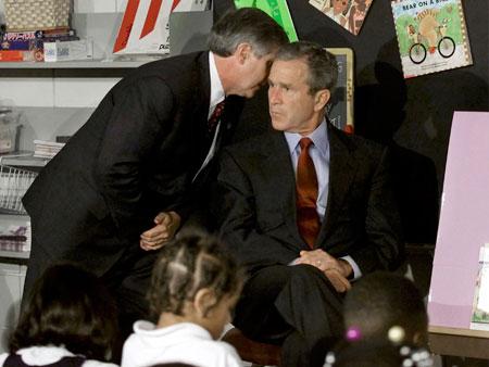 Resultado de imagem para bush escola 11 de setembro
