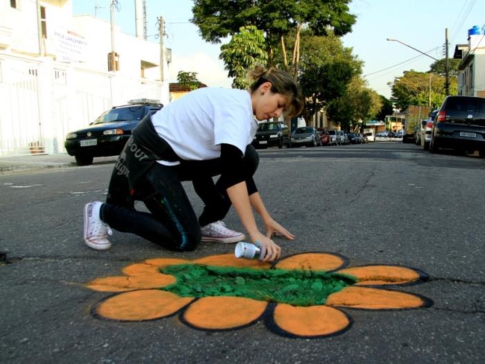 flor do jardim tiete : flor do jardim tiete: sobre buracos e transforma asfalto em jardim em SP – São Paulo – R7