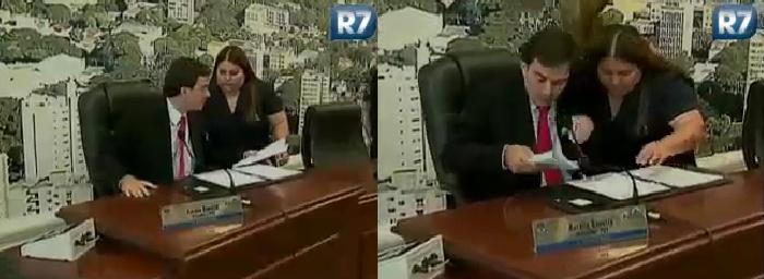 Um político brasileiro também entrou no grupo da sapatada. O vereador Aurélio Bonatto (PDT), 2º secretário da mesa diretora da Câmara Municipal de Dourados...