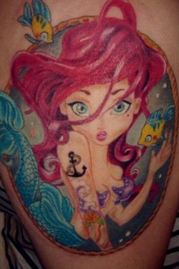 Ilustrador transforma princesas da disney em tattoos for Princesas disney tattoo