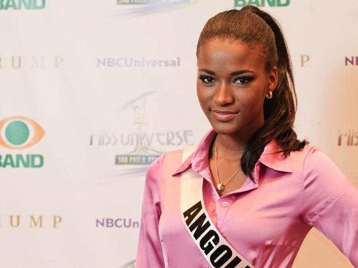 Um close da bela Miss Universo 2011, a angolana Leila Lopes, que também conquistou por sua simpatia Saiba mais sobre a vitória da angolana Leila Lopes