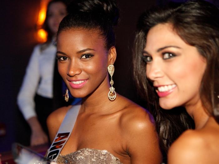 A Miss Universo 2011, Leila Lopes em noite de gala em São Paulo, antes da final que agitou o Credicard Hall nesta segunda-feira (12)Saiba mais sobre a vit...