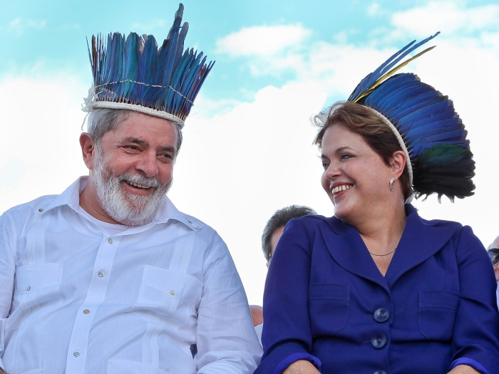 Juntos, a presidente Dilma Rousseff e o ex-presidente Luiz Inácio Lula da Silva inauguraram nesta segunda-feira (24) a Ponte Rio Negro, que liga Manaus a I...