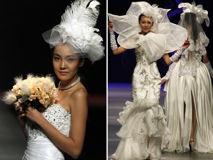 Modelos mostraram as tendências 2012 para casamentos