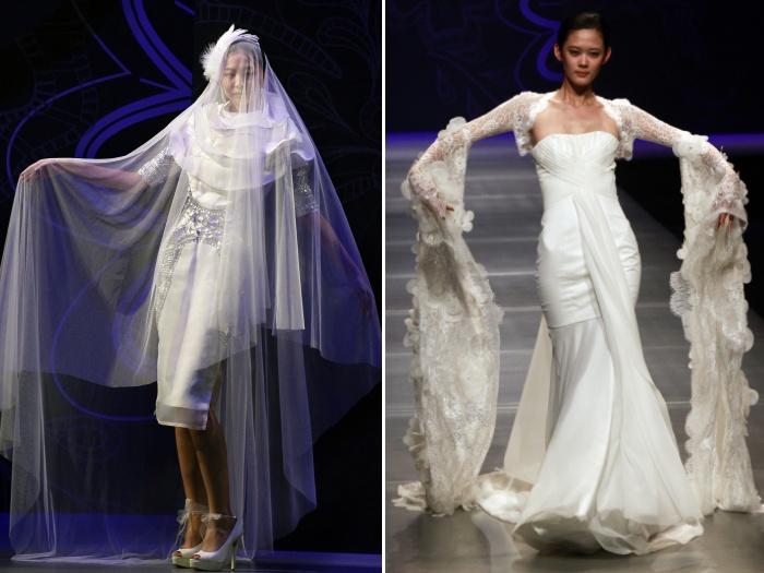 Apesar de dividir opniões, todos os modelos apresentados são de grifes famosas na China e no mundo