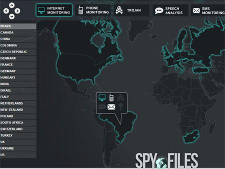 Mapa espionagem