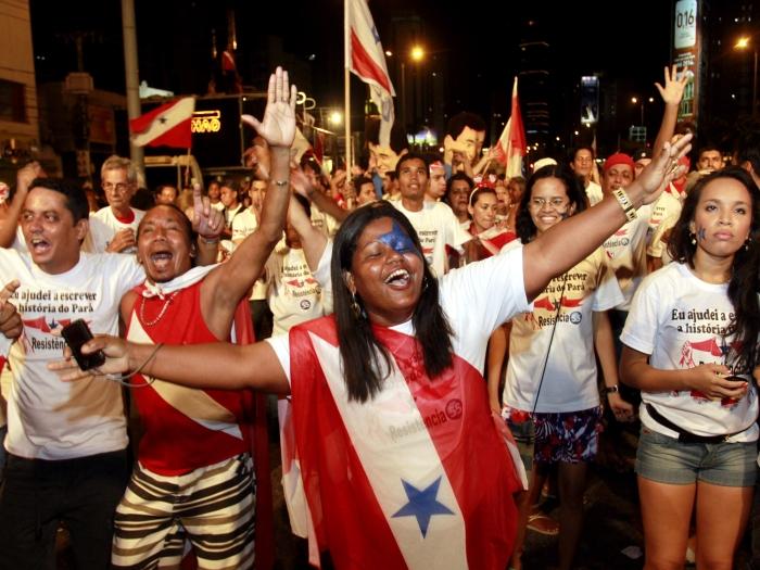 Paraenses comemoram vitória do Não