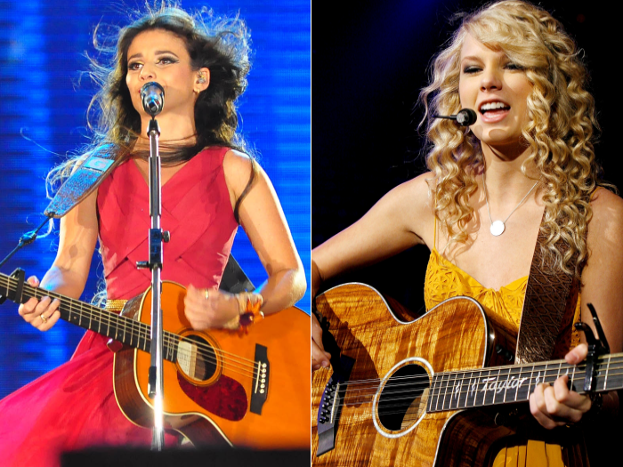 Paula Fernandes e Taylor Swift