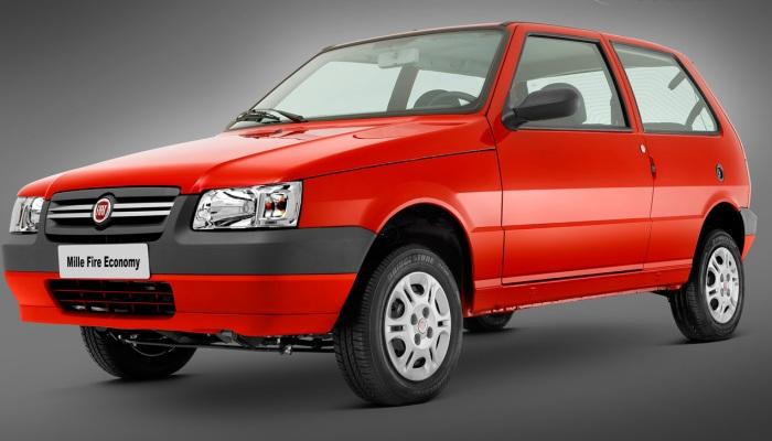 Fiat Mille Economomy (etanol/gasolina): 8,9/12,7 km/l (cidade) e 10,7/15,6 km/l (estrada)