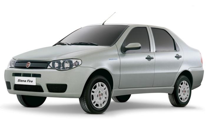 Fiat Siena Fire (etanol/gasolina): 8,2/12 km/l (cidade) e 9,8/14,1 km/l (estrada)