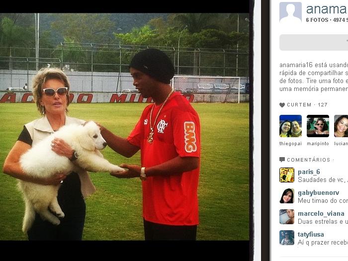 Ana Maria Braga e Ronaldinho