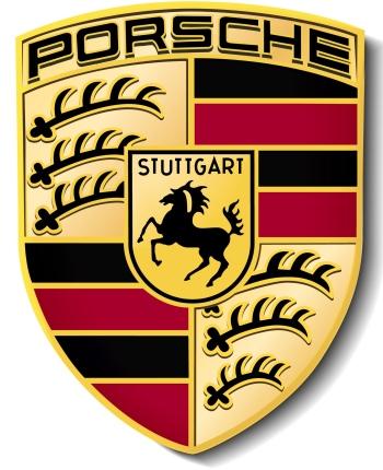 Porsche— O logo da fabricante alemã junta elementos do brasão de Württemberg-Baden, como a região de origem da marca era chamada, com o cavalo rampante, q...