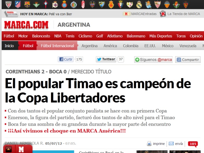 Mundo se rende ao Tim&atilde;o campe&atilde;o da Libertadores - Foto 7 ...