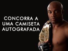 Concorra a uma camiseta autografada pelo Anderson Silva