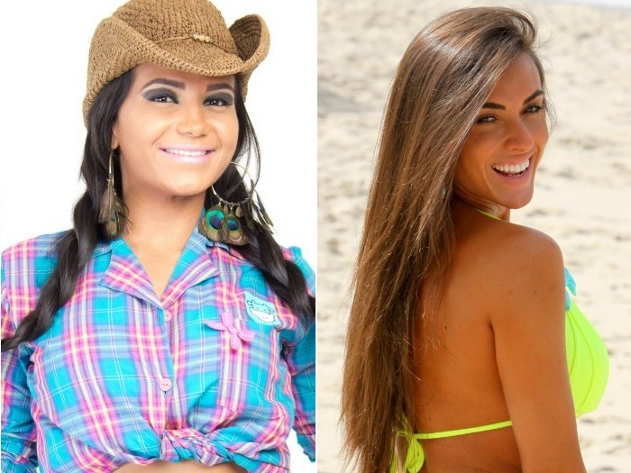 Shayene Cesrio e Nicole Bahls