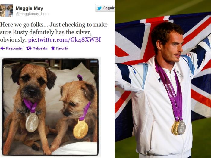 Montagem medalha Andy Murray