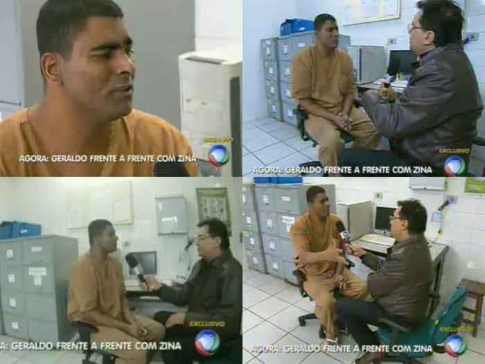 Geraldo Luis mostra Zina na cadeia
