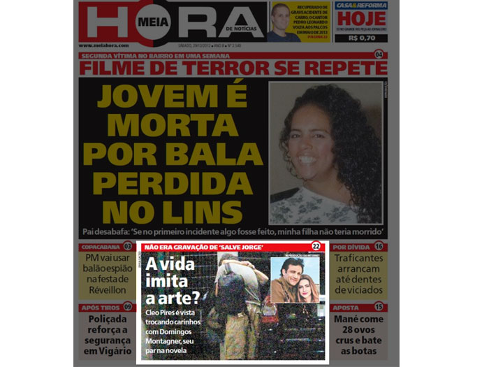Jornal publica flagra de Cleo Pires trocando carinhos com Domingos Montagner