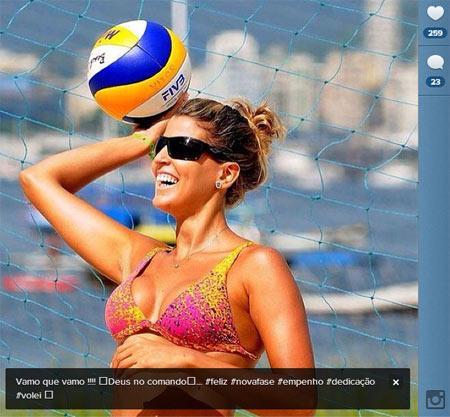 Mari Paraíba avisa que não entrou no vôlei de praia para brincar ...