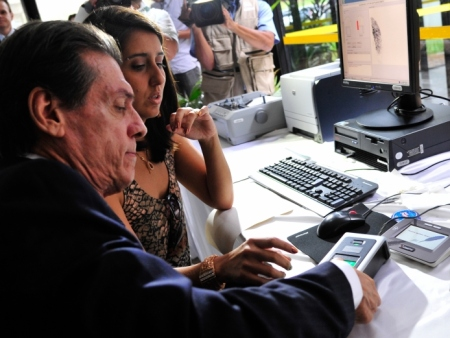 O presidente do Tribunal Regional Eleitoral do Distrito Federal – TRE-DF – Desembargador Mario Machado, dá entrevista coletiva para anunciar as primeiras medidas para a implantação do voto biométrico já nas eleições gerais do ano que vem.