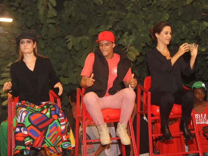 Grávida, Guilhermina Guinle é jurada de batalha de funk no Morro do
