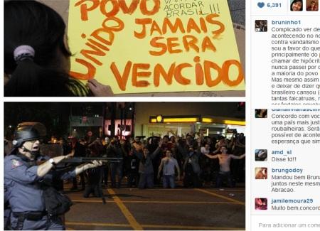 Bruninho manifestação