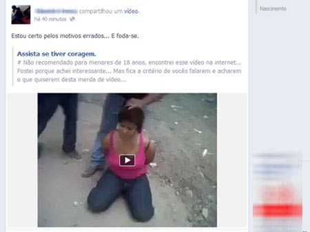 Ap&oacute;s pol&ecirc;mica, Facebook tira v&iacute;deo de decapitada do ar ...