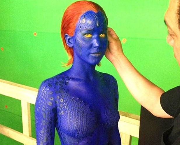 "Jennifer Lawrence como Mística no novo ""X-Men"""