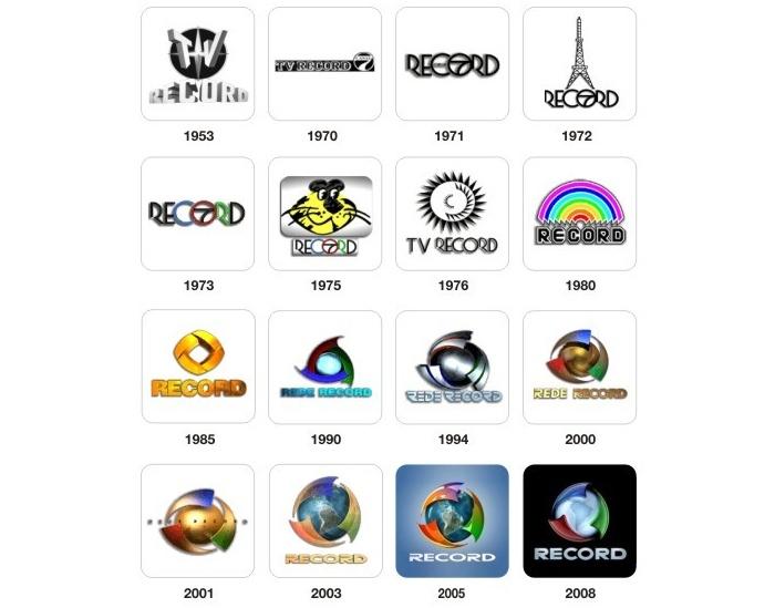 Logomarcas antigas da Record